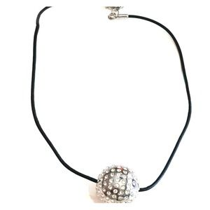 Swatch crystal ball necklace